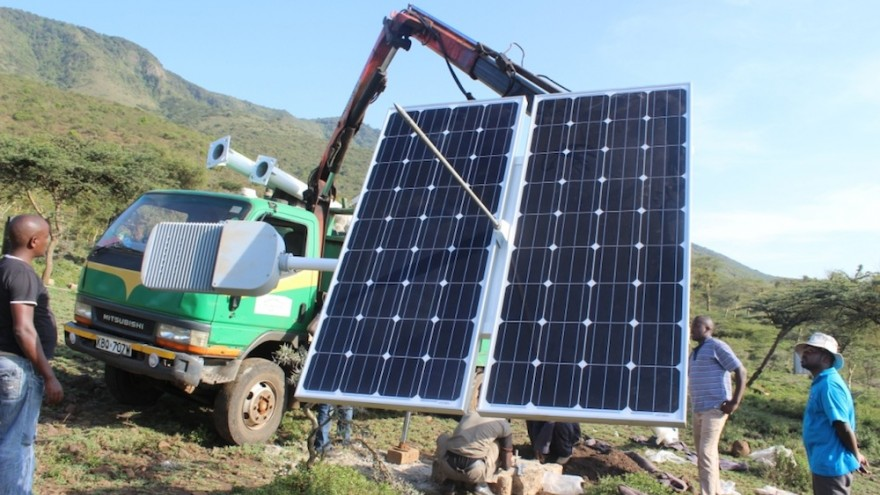Local communities are involved in every phase of installing and maintaining the solar equipment.