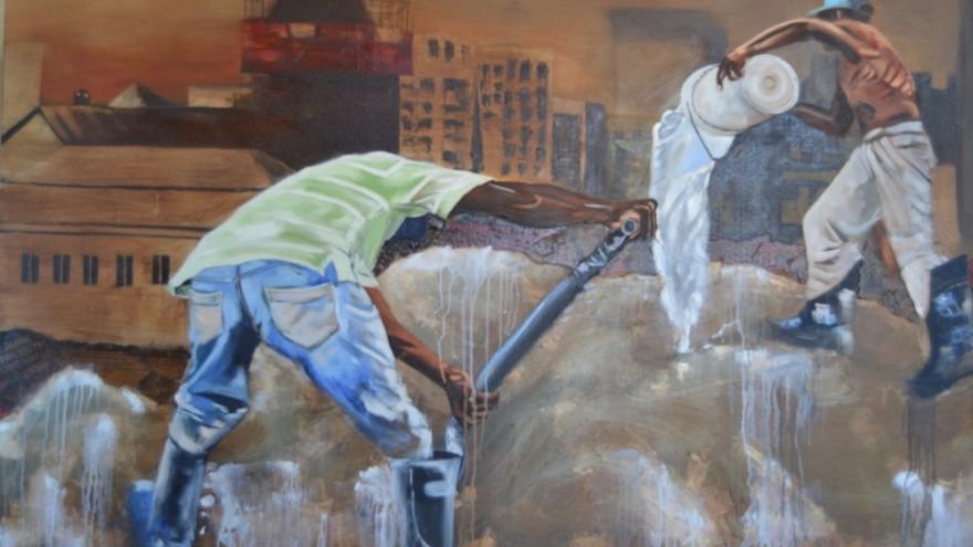 Artist Banele Njadayi