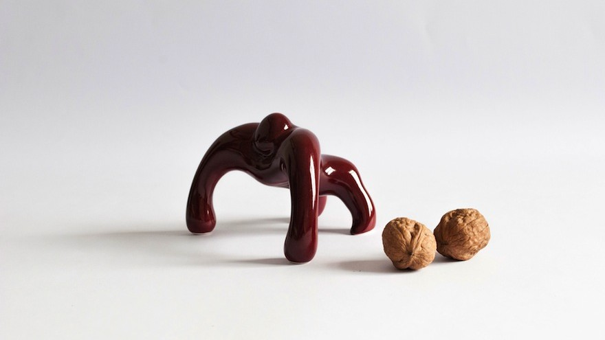According to its creator NikyNaky, this ceramic Macaco paperweight just wants to be loved