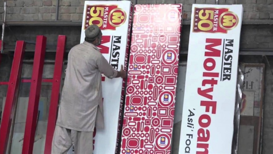 The billboards are fitted with MoltyFoam mattresses