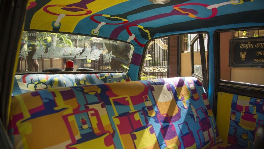 """Taxi designed by Sanket Avlani, titled """"Number Game""""."""