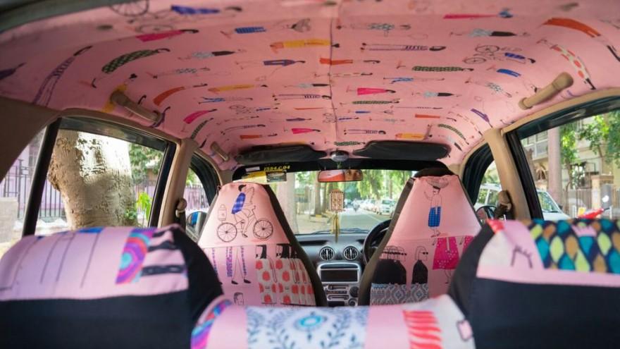 "Taxi designed by Pranita Kocharekar, titled ""You & I""."