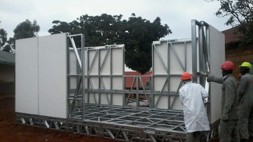 Aleutia's solar powered classroom fits on one flatbed truck.