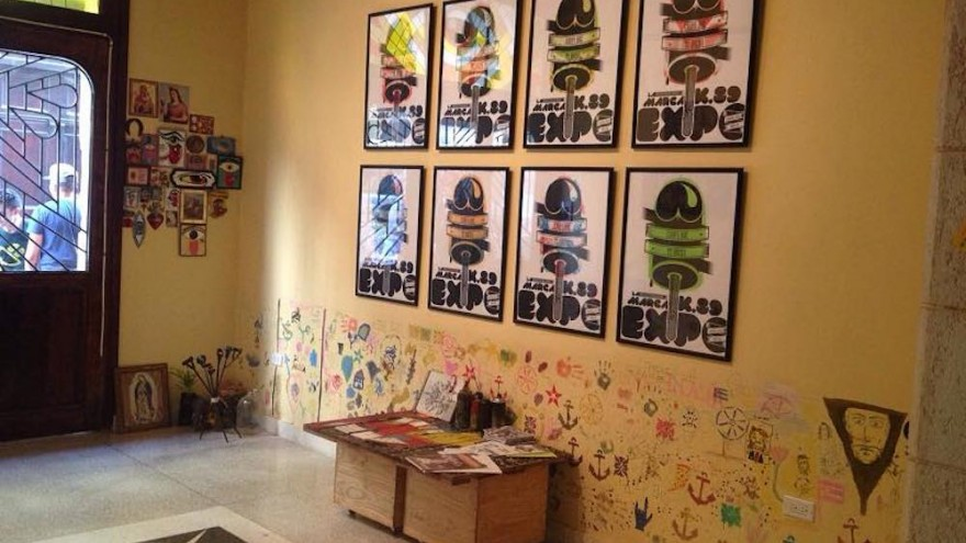 La Marca is a tattoo parlour and a visual art gallery.