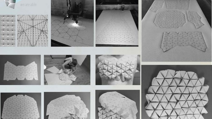 This origami inspired dress expands during every stage of pregnancy.