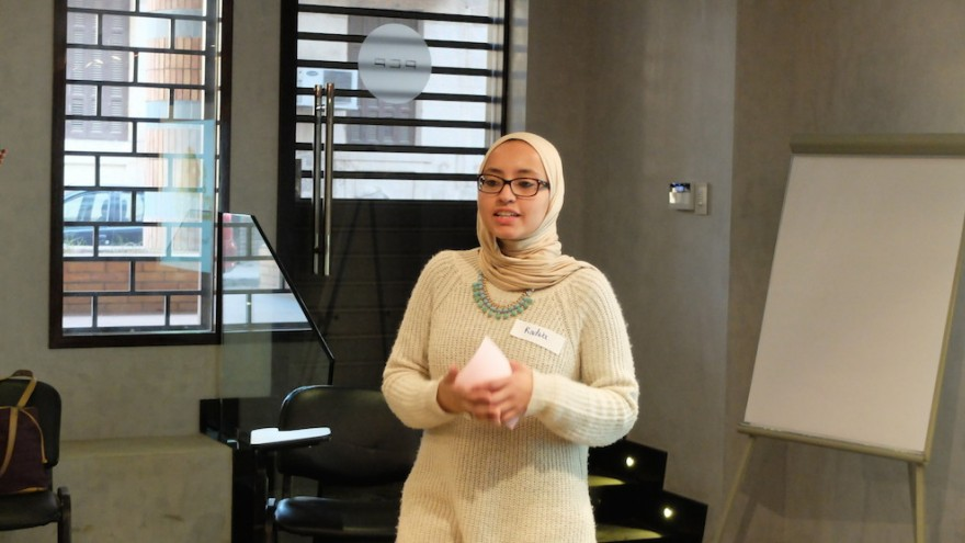 Radwa Rostom's Hand Over project aims to involve residents and students in the eradication of slums in Cairo.