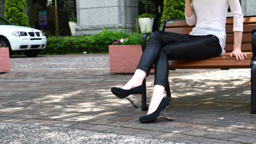 Yasuyuki Yamada has created a healthier alternative to conventional high-heeled shoes.