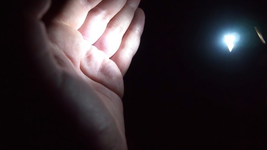 This finger-sized flashlight is powered by body heat.