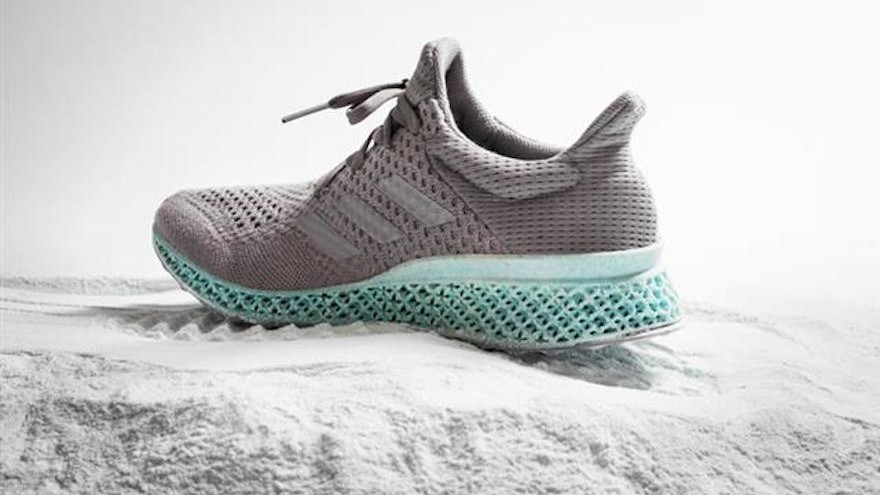 Adidas created the world's first shoe upper made entirely of recycled ocean plastic and gillnets.