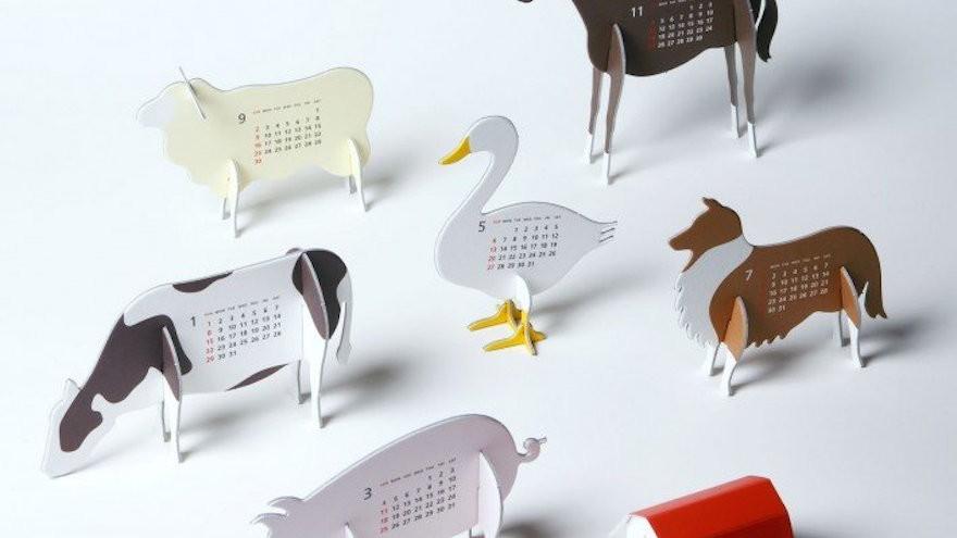 "Good Morning original calendar 2012 ""Farm"" Calendar by Katsumi Tamura"