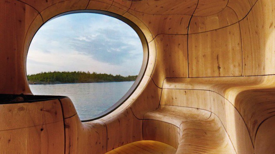 Grotto Sauna by PARTISANS from A' Design Award & Competition