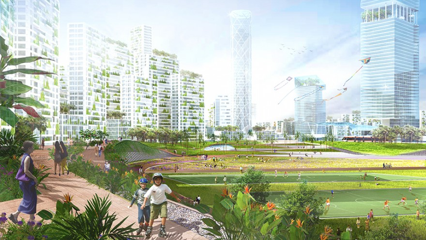 Tropical Utopian City Proposed For Malaysian Coastline