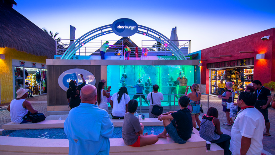 Clear Lounge is a family friendly underwater bar