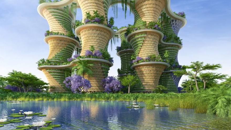 A massive eco village with a utopian take on sustainable for Livyng ecodesign