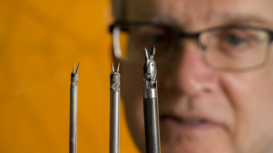 Researchers are creating some of tiniest surgical tools.