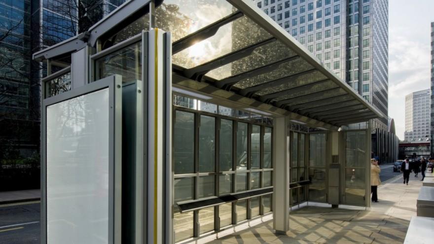 Polysolar bus shelter