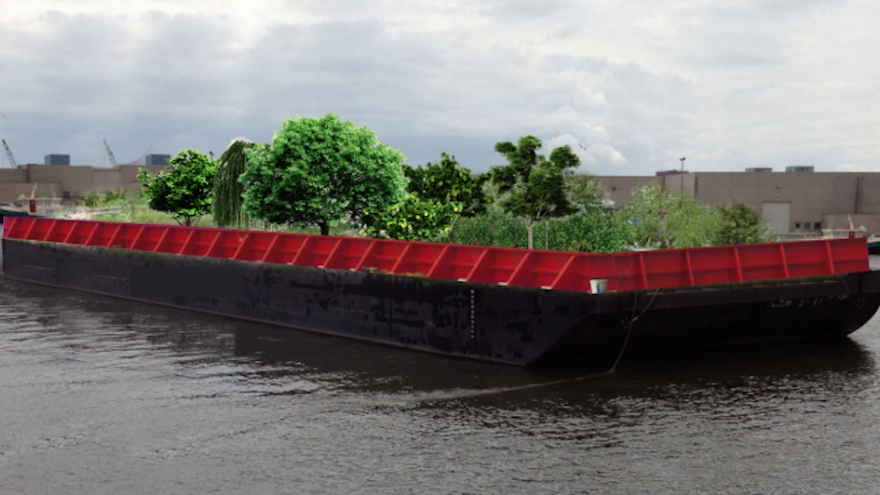 Swale floating food forest, New York