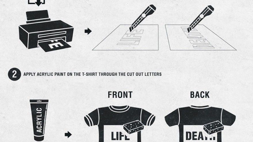 Instructions to make the LifeDeath t-shirt