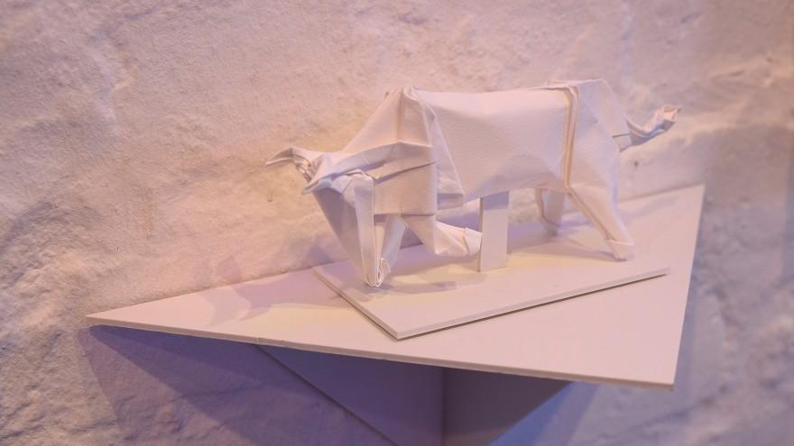 Bull origami