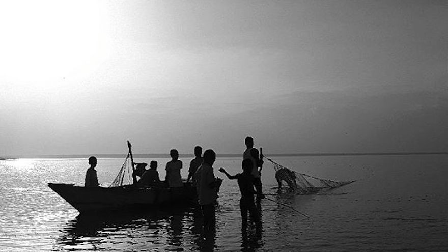 An image from Tadesse's fishermen series