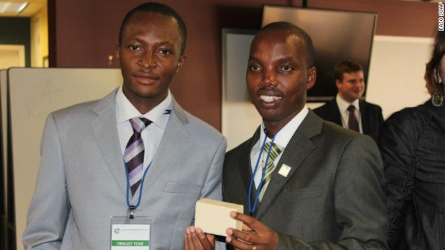 Moctar Dembélé and Gérard Niyondiko, the creators of Faso Soap