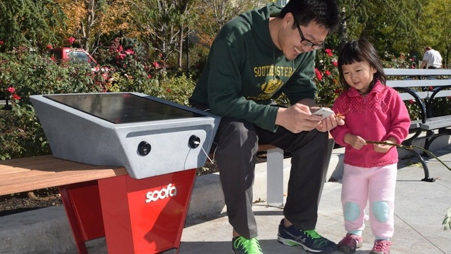 Soofa Bench can already be found in 16 states and 5 countries