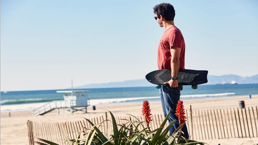 The Ahi recycled fishing-net skateboard by Bureo