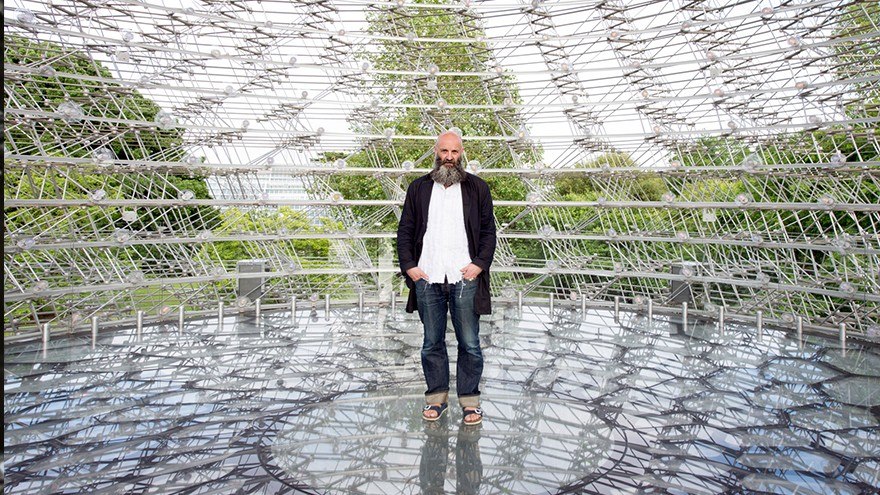 Wolfgang Buttress inside the Hive in the Royal Botanical Gardens