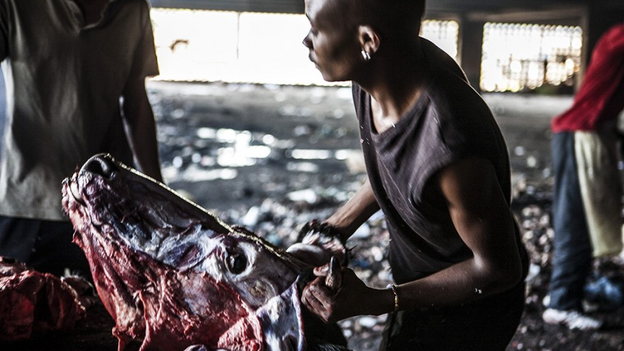 "Informal butchers. ""Wake up, This is Joburg"" is a series of 10 books that tells the stories of the peculiar urban inhabitants of Johannesburg. Image: Mark Lewis"