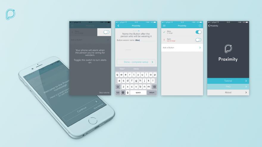Proximity app interfaces
