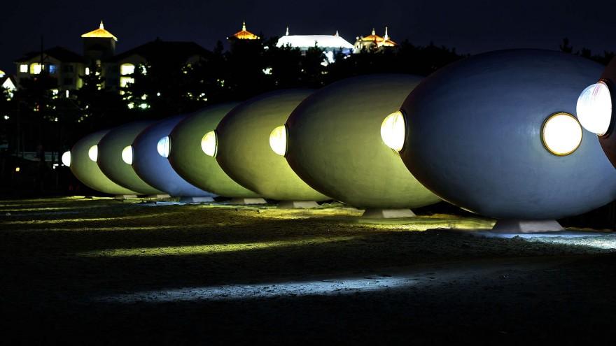 Albang pod at night