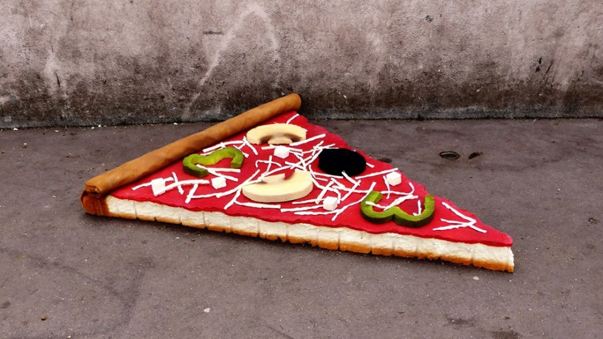 Eat Me pizza slice