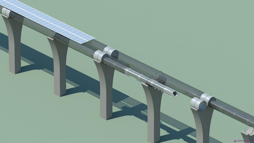 Hyperloop tubes rendering