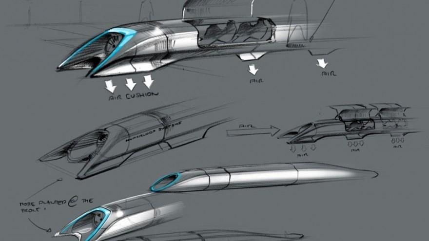 Concept drawing of Hyperloop
