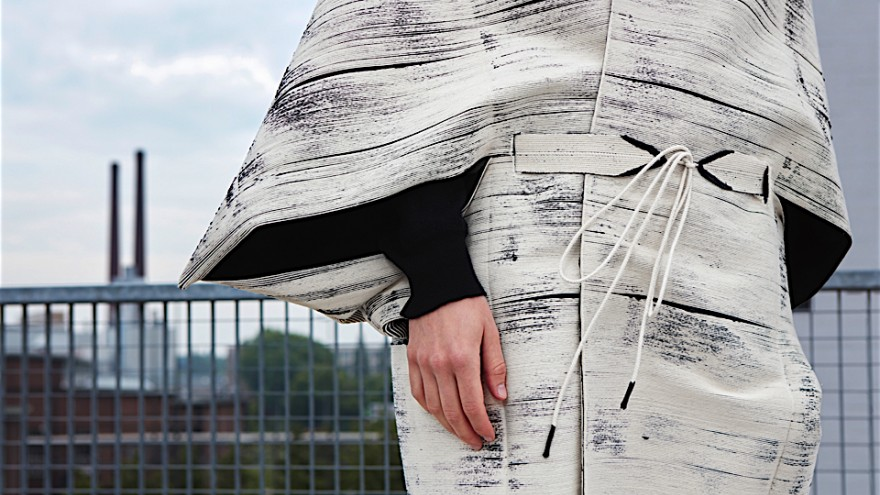 Design Academy Eindhoven graduate Wendy Andreu has developed a series of craft-inspired waterproof garments that are not sewn or cut into patterns