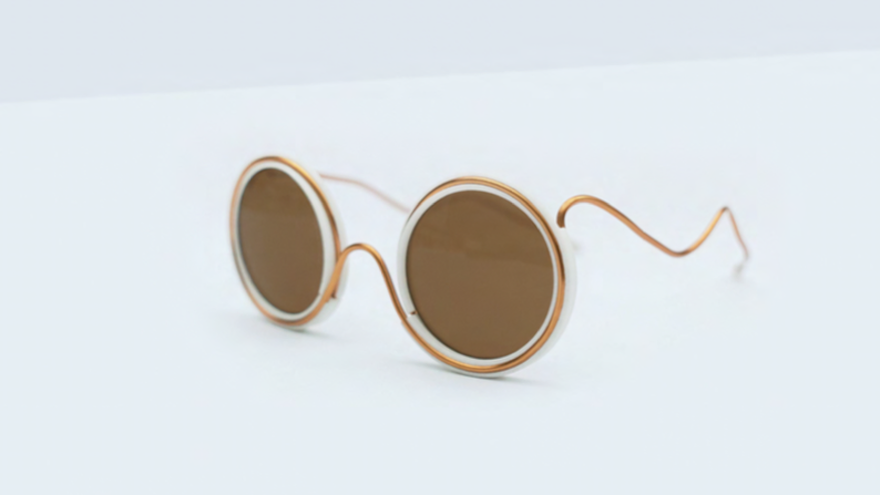 These John Lennon-style Wire Glasses are made from a single wire in Harare Zimbabwe on frames that are 3d printed in London