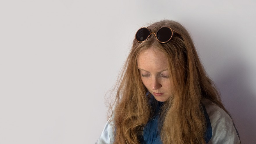 Lily Cole wears Wire Glasses and was an integral part of the design process