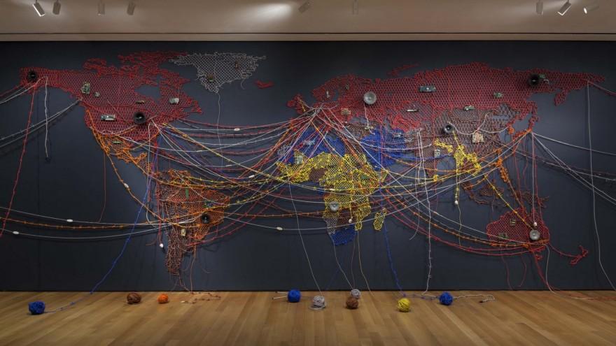 Woven Chronicles installation of Reena Saini Kallat