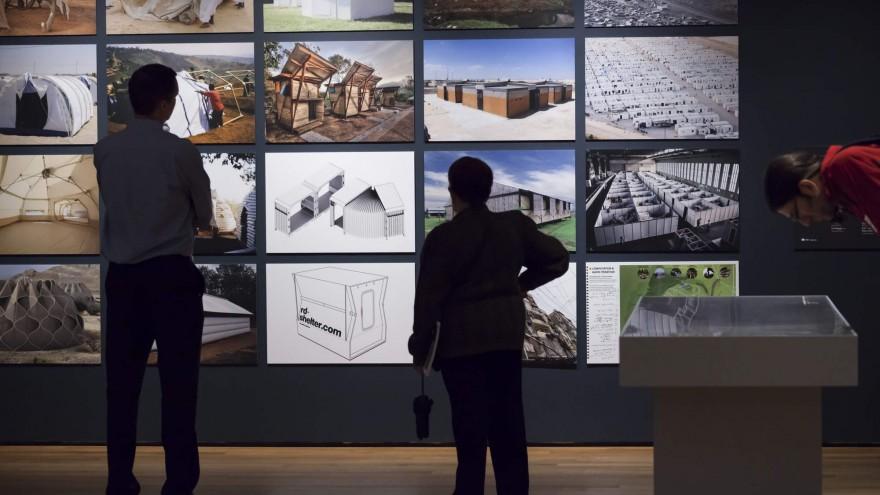 Shelter design artworks on display