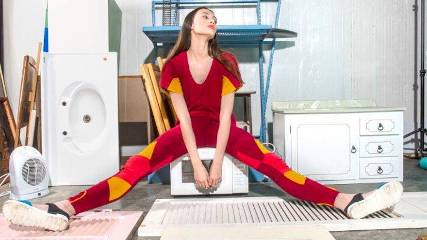 Fundamentals Range by Space Between. Reuse Clothing system by Whitty, Jennifer: made from up-cycled corporate uniform waste which has been transformed to extend its lifespan and reduce waste to landfill