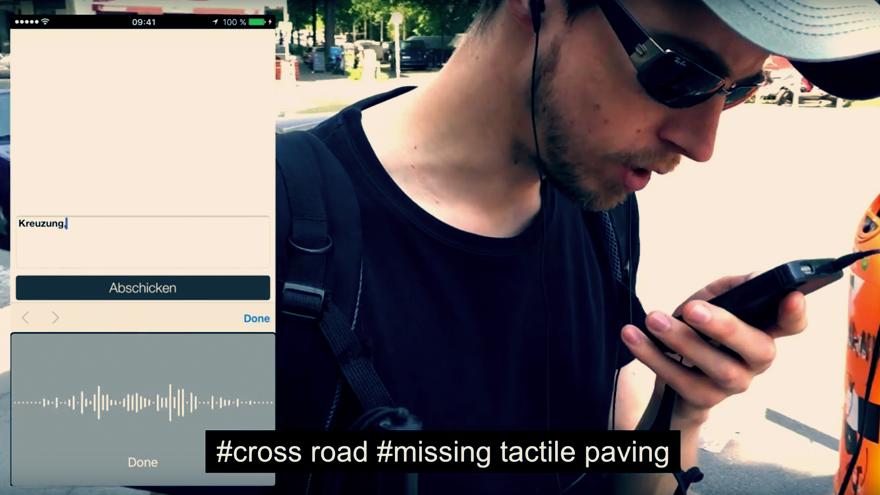 BlindWiki user-experience GPS system