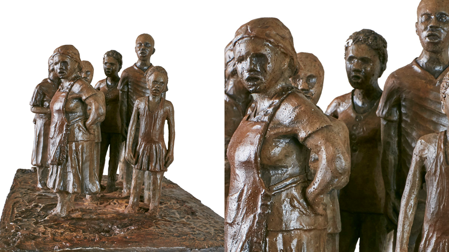 "Overall Winner and Sculpture Category Winner: Mziwoxolo Makalima – ""Doubt-Queuing"""