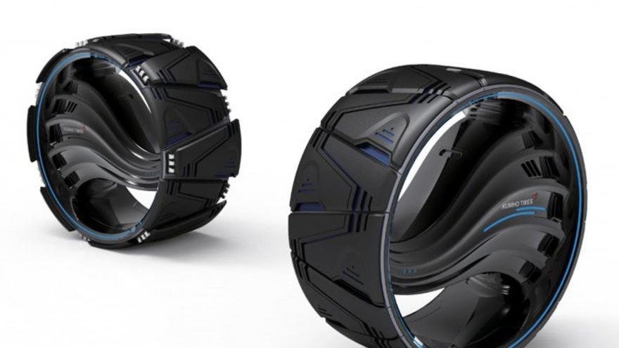 Maxplo Tire by Lee Jae-moon & Park Jae-pil,  Platinum A' Futuristic Design Award Winner