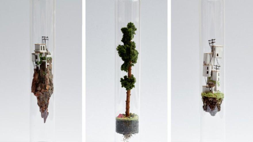 Micro Matter Miniature Sculptures in Glass Test Tubes by Rosa de Jong, Crafts and Ready-Made Design Award Winner