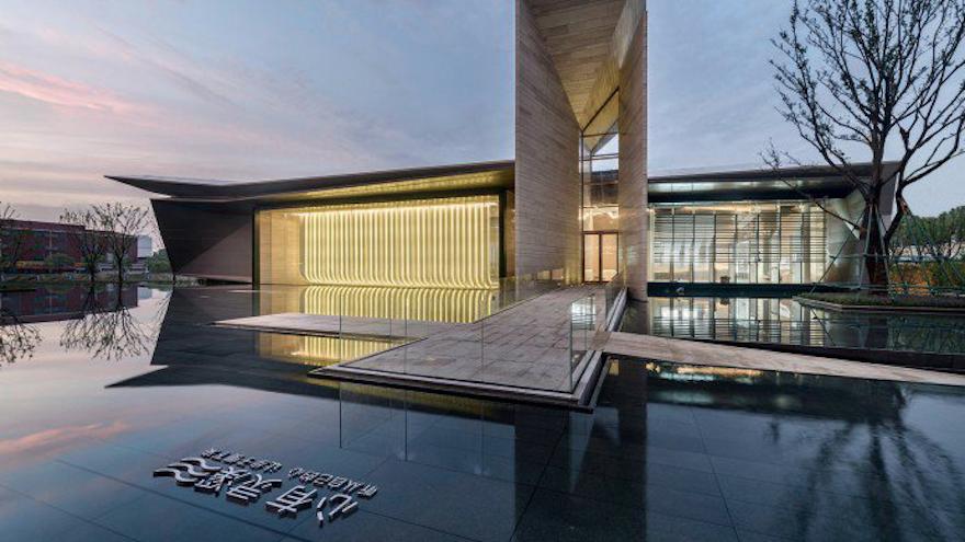 Light Waterfall Sales Center by Kris Lin and Jiayu Yang