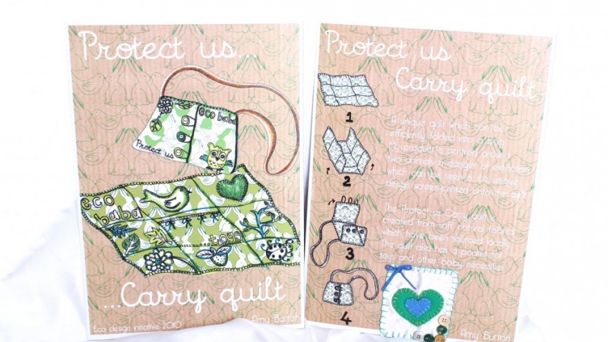 Multi-purpose carry quilt by Amy Burton.