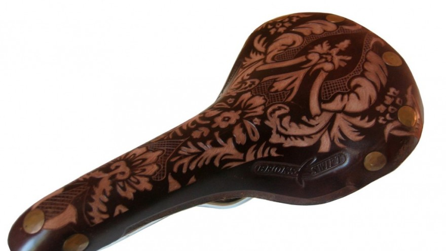 Damask saddle design by Kara Ginther.