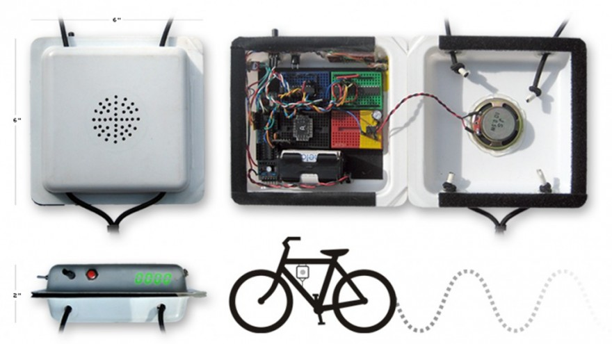Velosynth bike synthesizer.