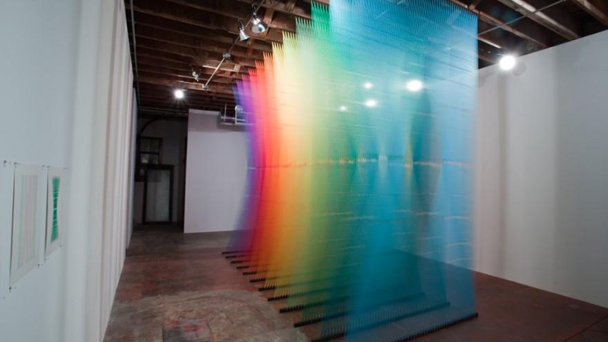 Plexus installation by Gabriel Dawe.