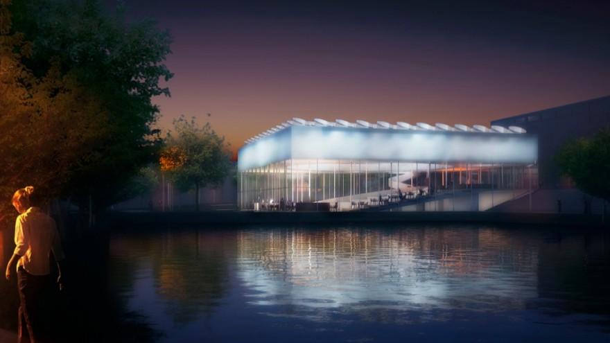 Student Pavilion at Erasmus University by Paul de Ruiter Architects.